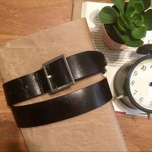 Nine West Black leather belt